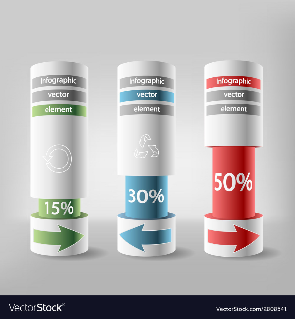 Infographics element vector | Price: 1 Credit (USD $1)
