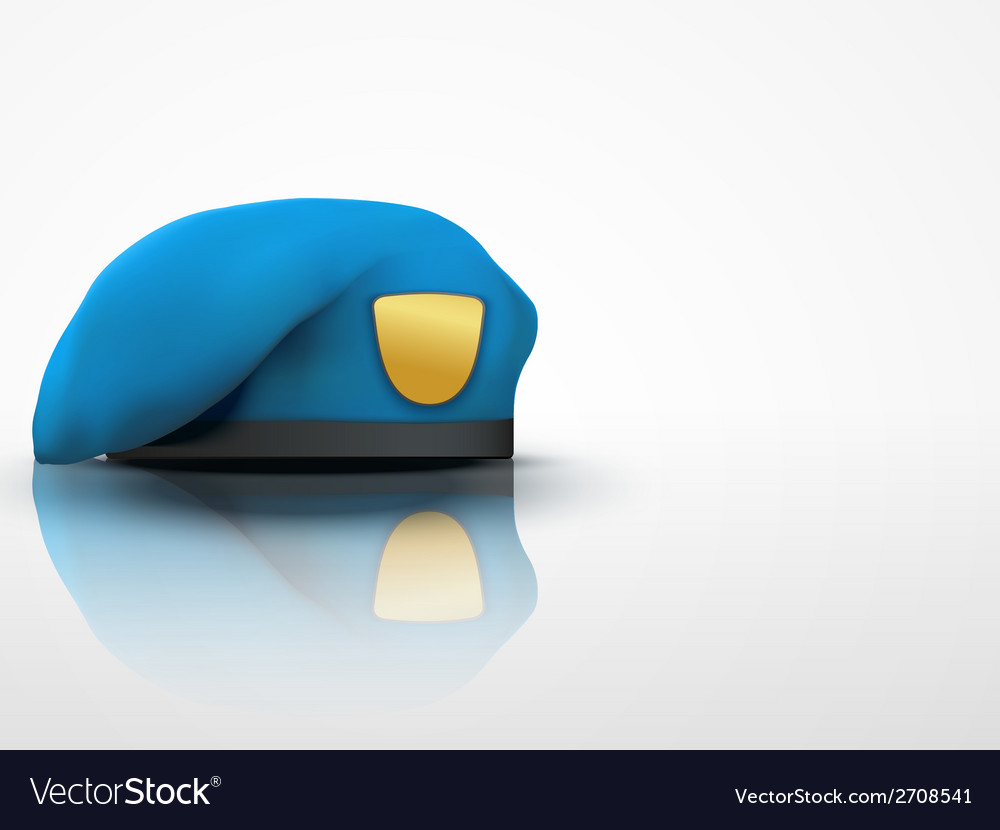 Light background military blue beret navy army vector | Price: 1 Credit (USD $1)