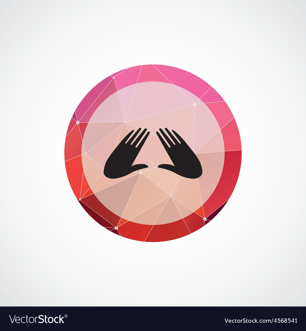 Massage circle pink triangle background icon vector | Price: 1 Credit (USD $1)