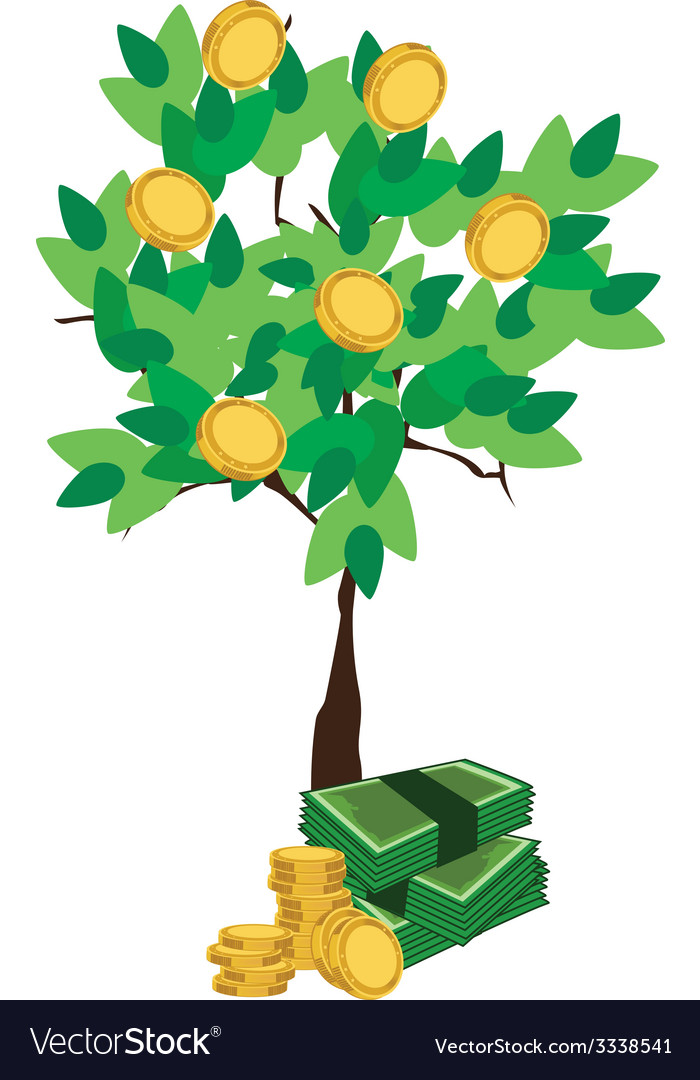 Money tree vector | Price: 1 Credit (USD $1)