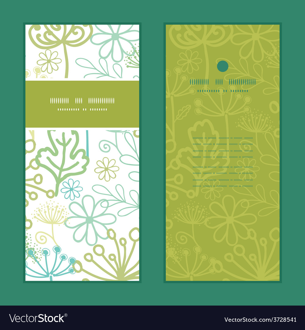 Mysterious green garden vertical frame vector | Price: 1 Credit (USD $1)