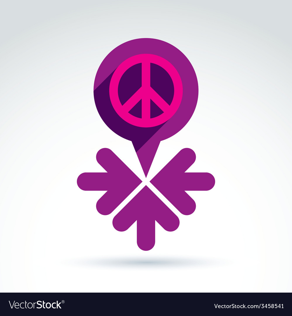 Peace propaganda icon with arrows working and vector | Price: 1 Credit (USD $1)