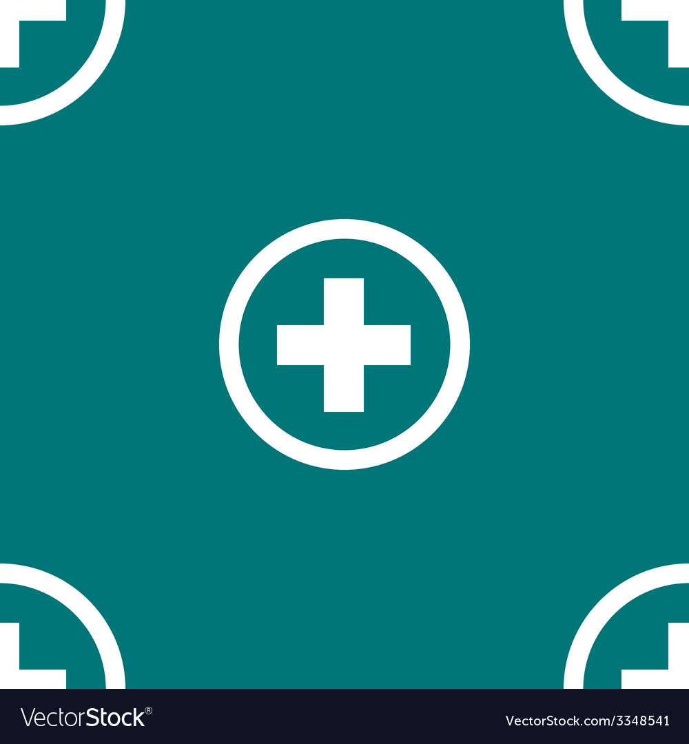 Plus web icon flat design seamless pattern vector | Price: 1 Credit (USD $1)