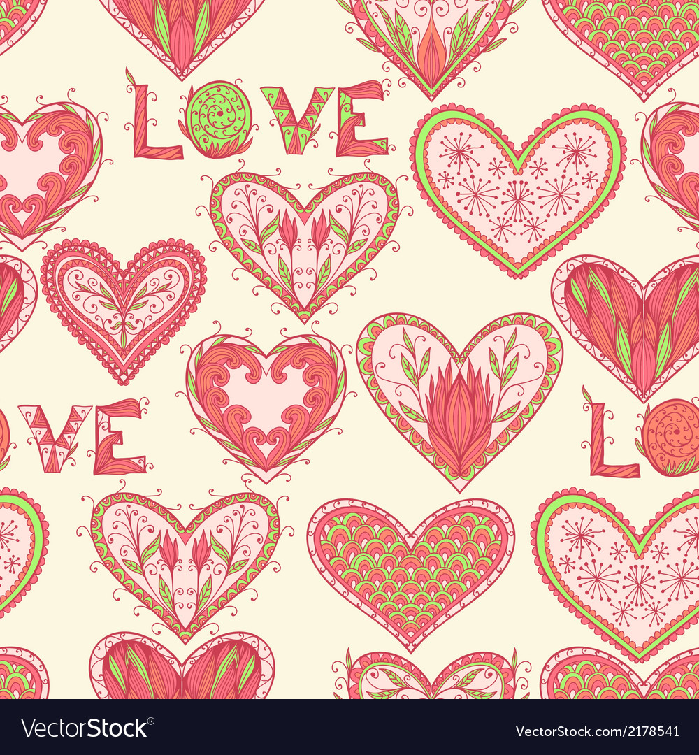 Seamless valentine pattern vector   Price: 1 Credit (USD $1)