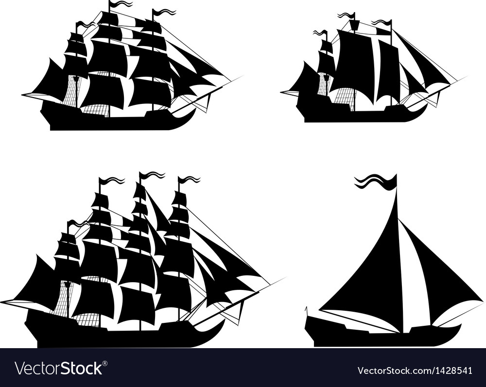 Ships set with separate editable elements vector | Price: 1 Credit (USD $1)
