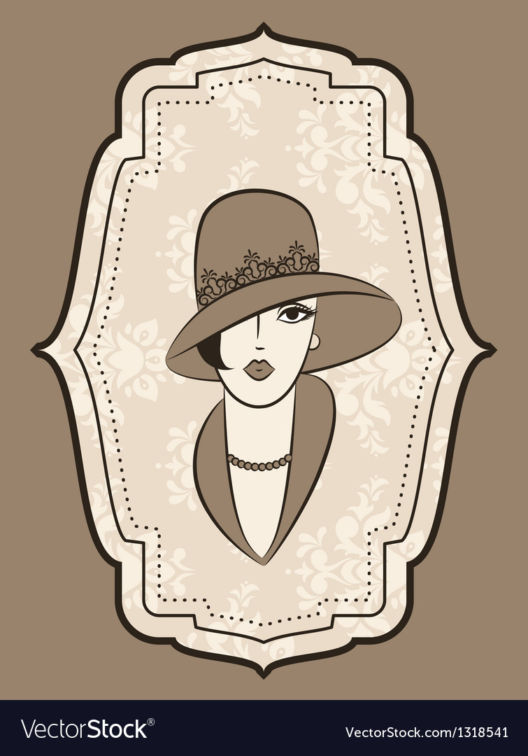 Vintage fashion model vector | Price: 1 Credit (USD $1)