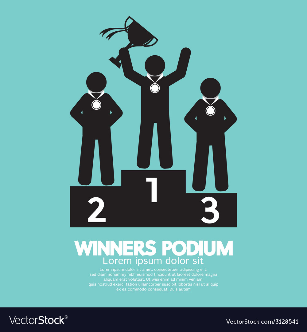 Winners podium symbol vector | Price: 1 Credit (USD $1)