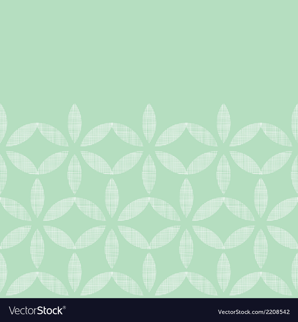 Abstract textile mint green leaves geometric vector | Price: 1 Credit (USD $1)