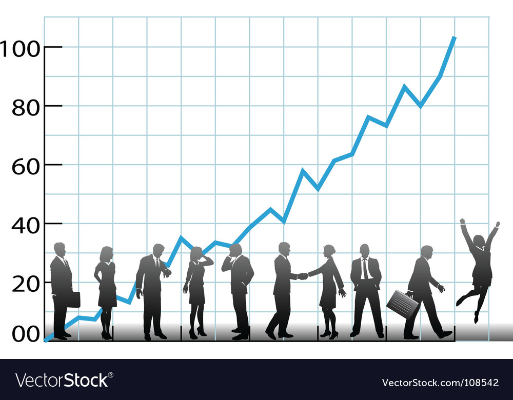 Business team chart company growth vector | Price: 1 Credit (USD $1)