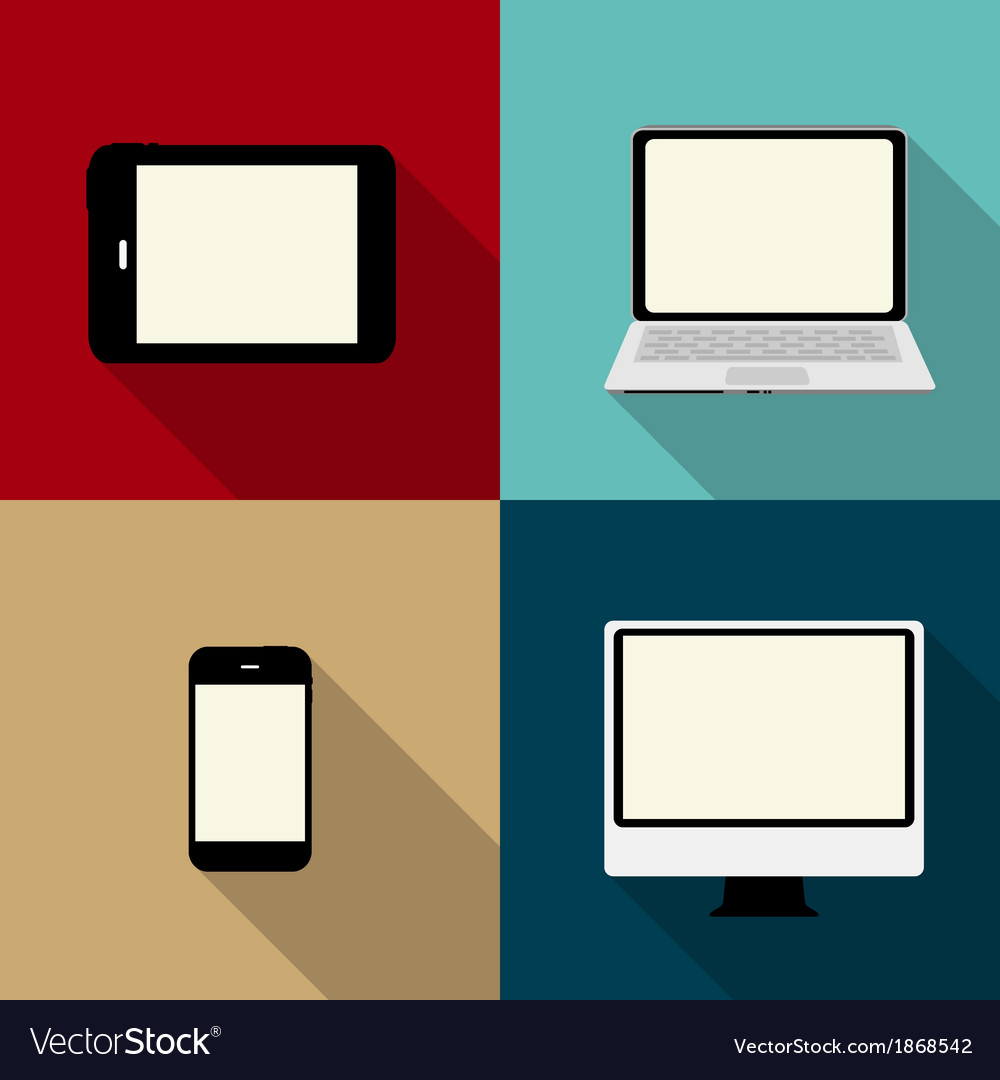 Computing concept on different electronic devices vector | Price: 1 Credit (USD $1)