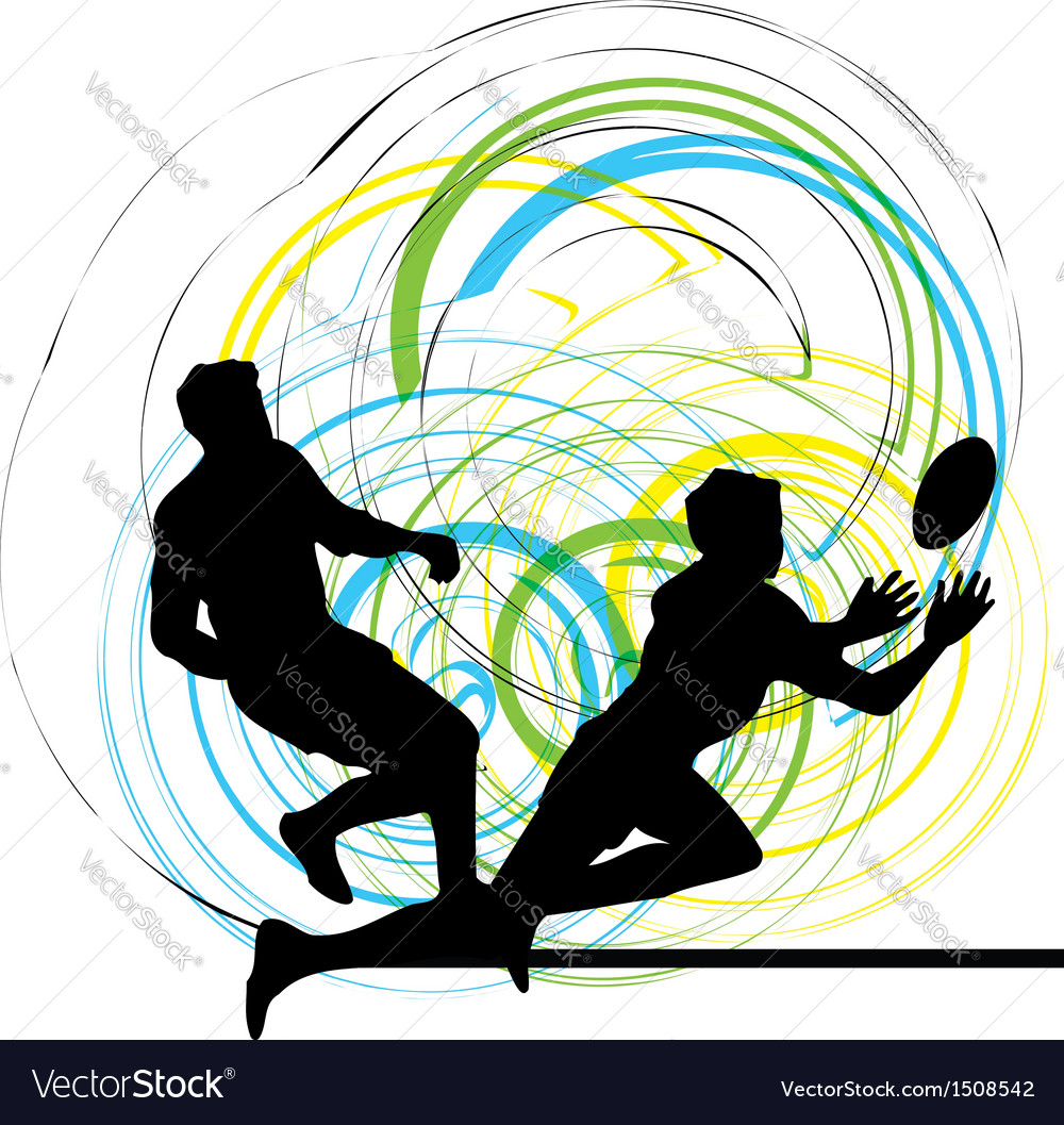 Football player in action vector | Price: 1 Credit (USD $1)