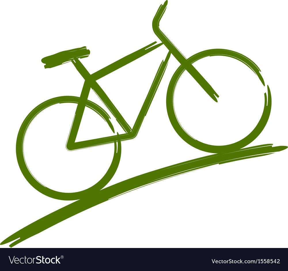 Green bike vector | Price: 1 Credit (USD $1)