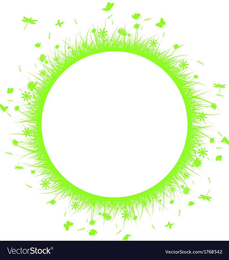 Green grass on circle vector   Price: 1 Credit (USD $1)
