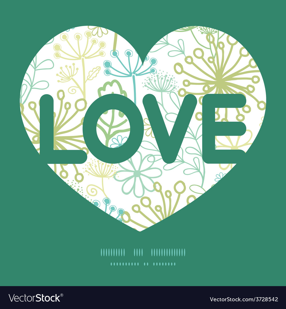 Mysterious green garden love text frame vector | Price: 1 Credit (USD $1)