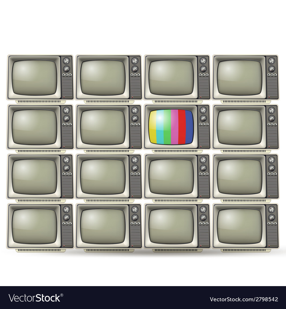 Old tvs vector | Price: 1 Credit (USD $1)