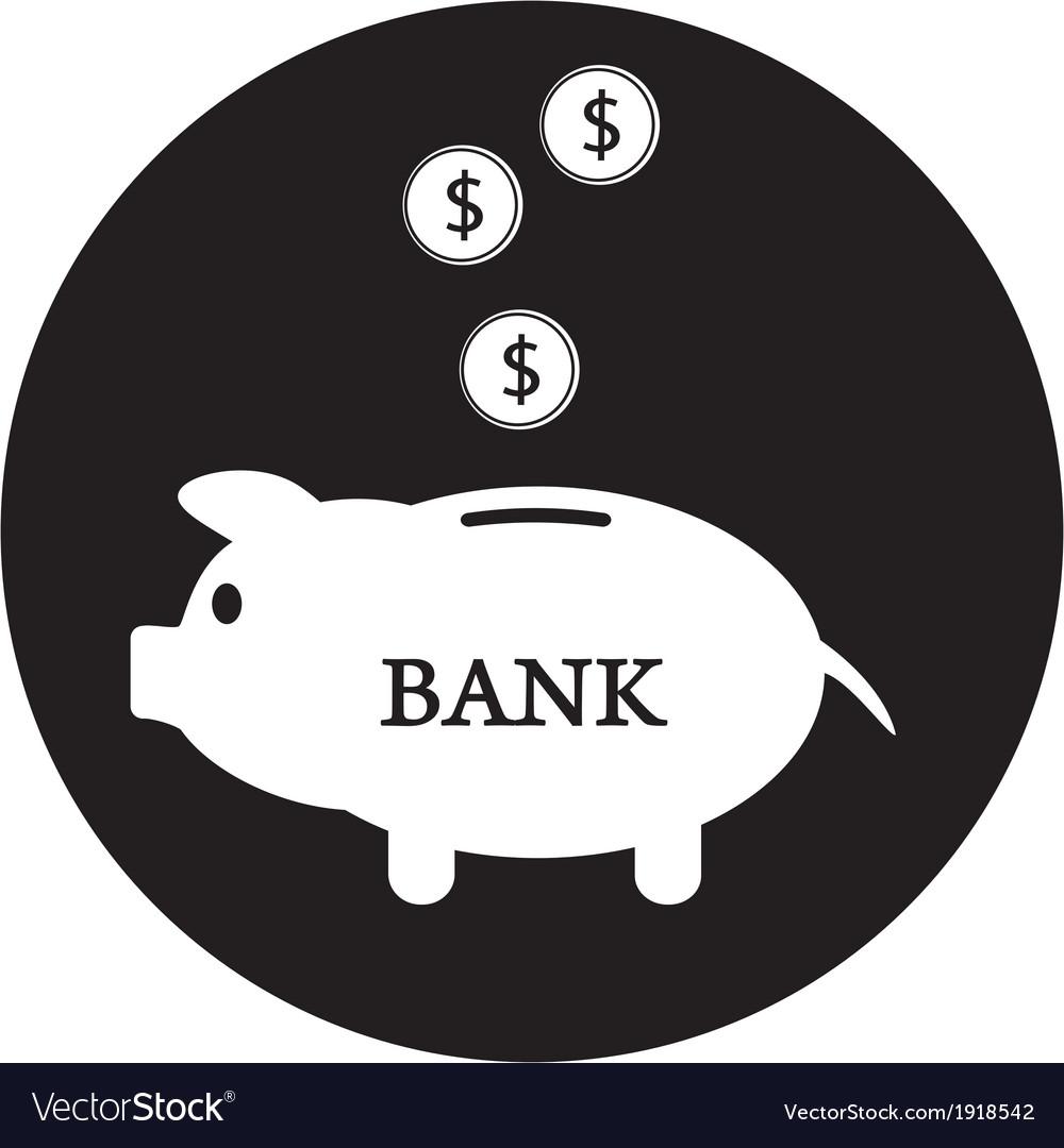 Piggy bank icon vector | Price: 1 Credit (USD $1)