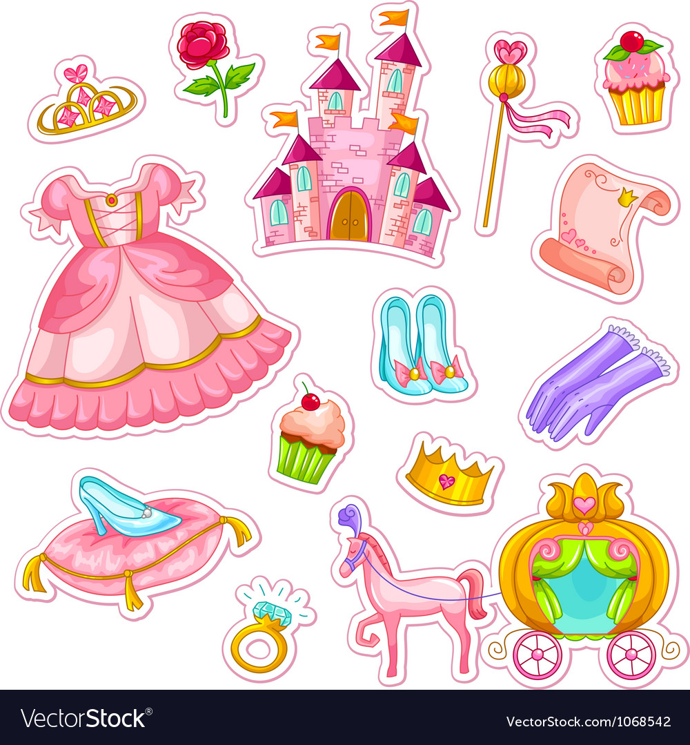 Princess collection vector | Price: 3 Credit (USD $3)