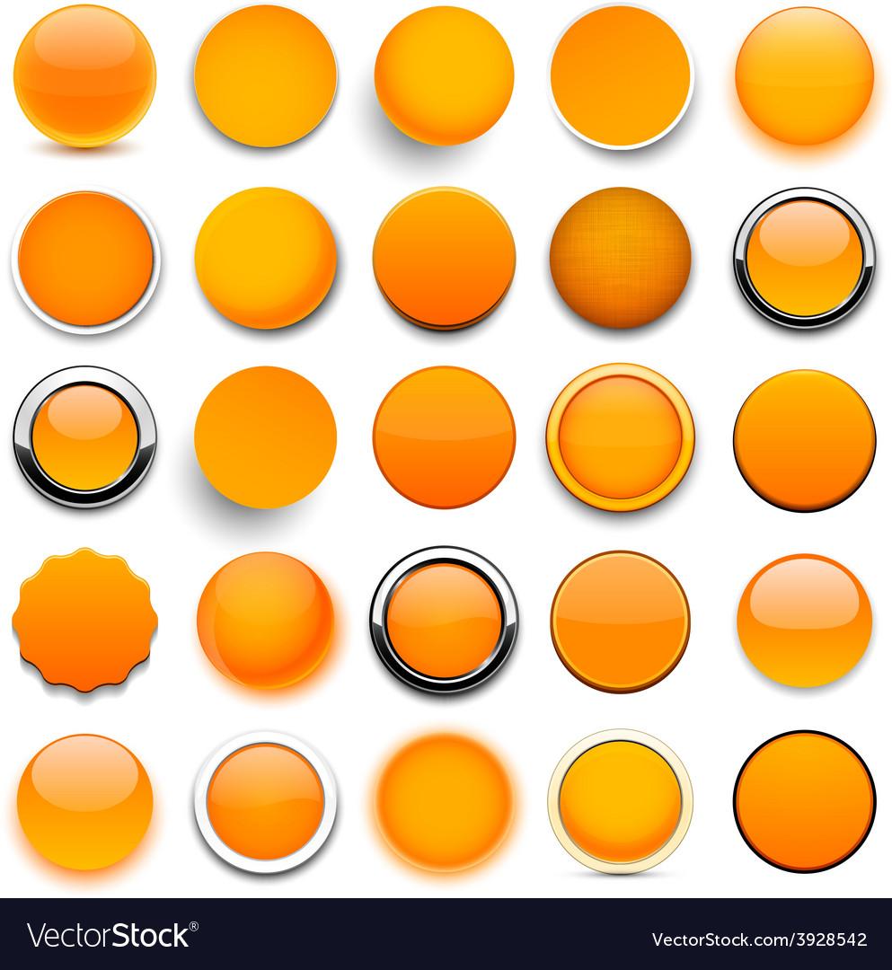 Round orange icons vector | Price: 1 Credit (USD $1)