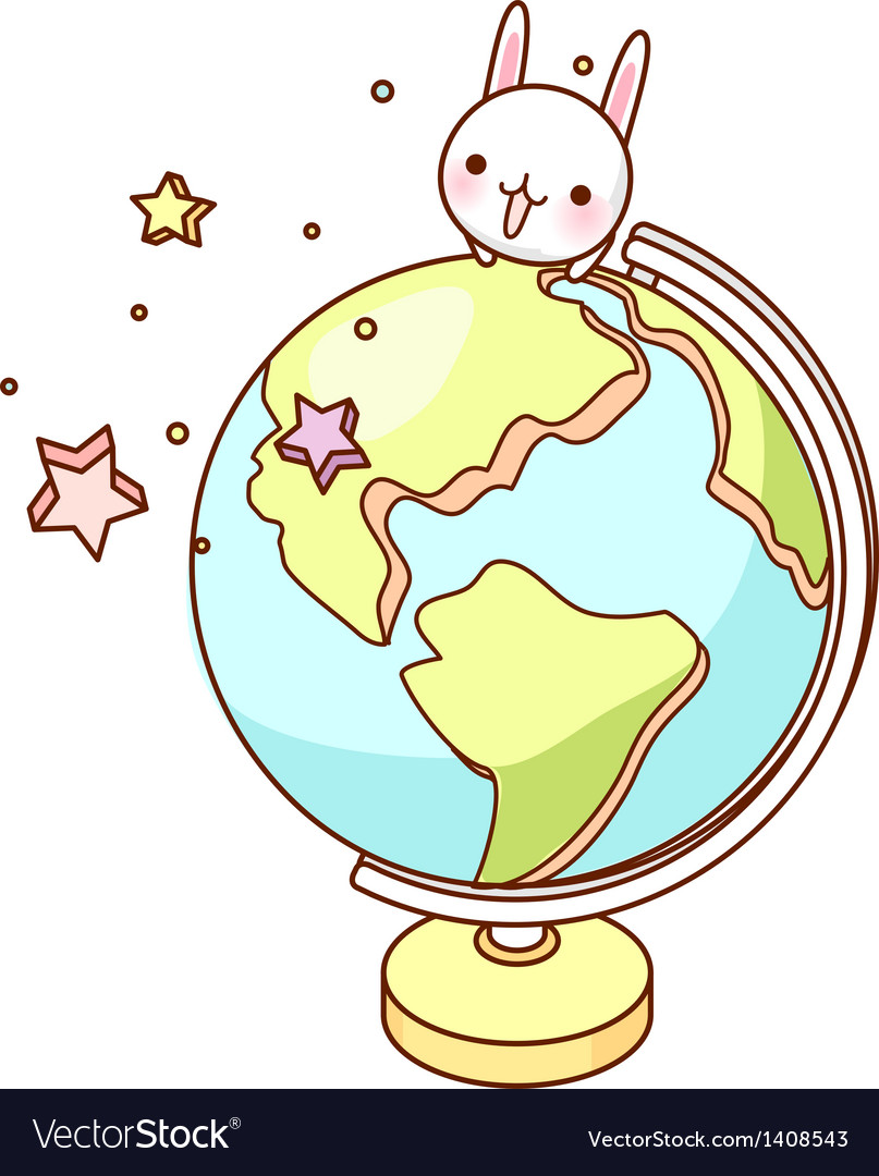 A desk globe is placed vector | Price: 1 Credit (USD $1)