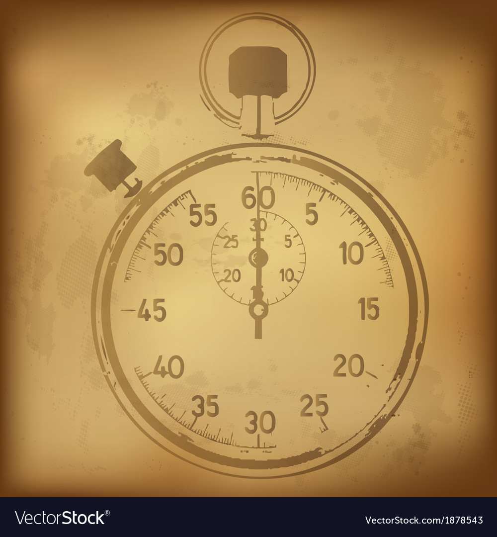 Antique stopwatch vector | Price: 1 Credit (USD $1)