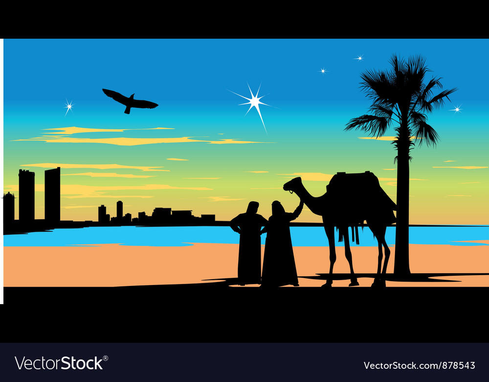 Arabian travelers vector | Price: 1 Credit (USD $1)