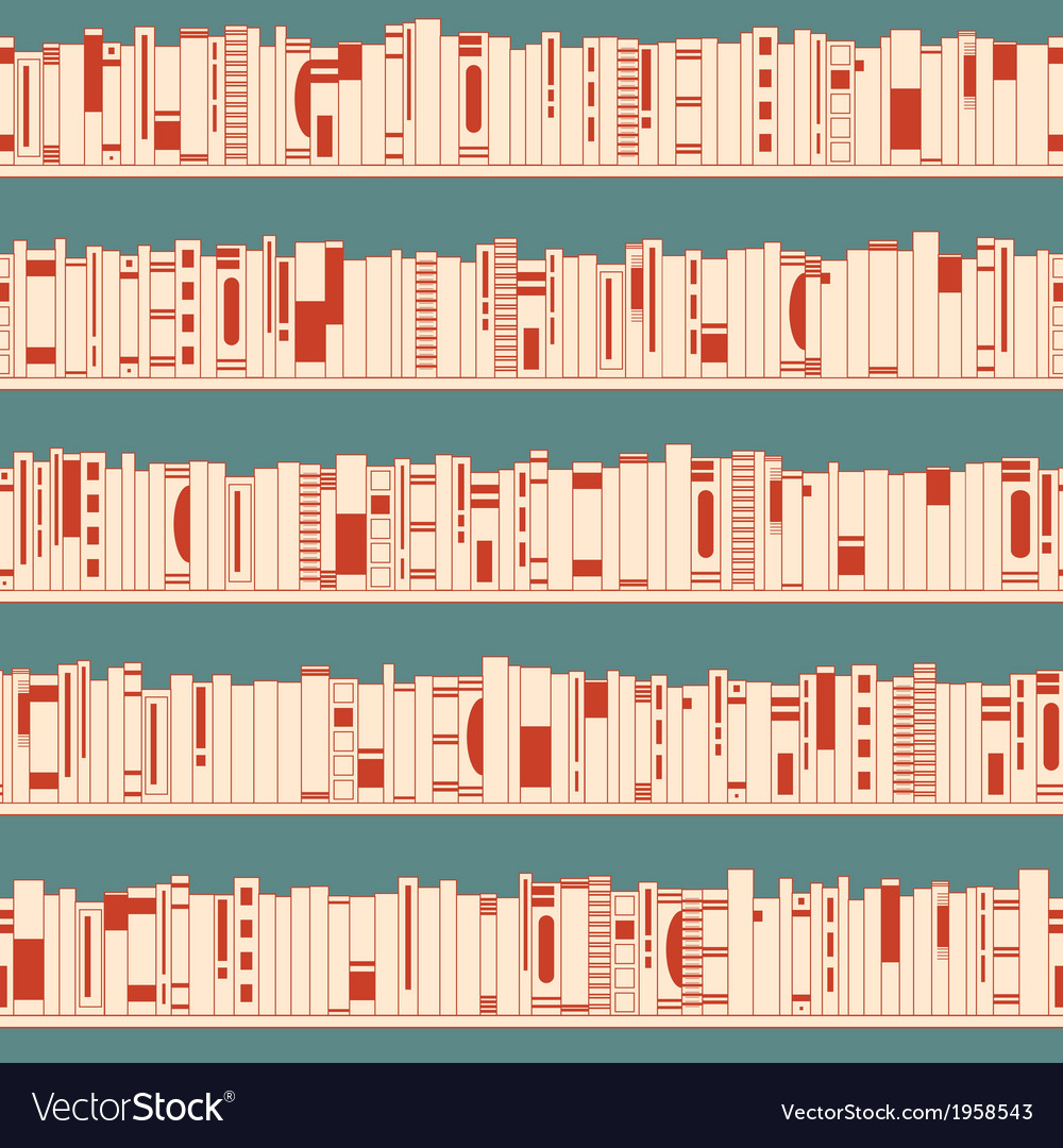 Bookshelf seamless pattern vector | Price: 1 Credit (USD $1)