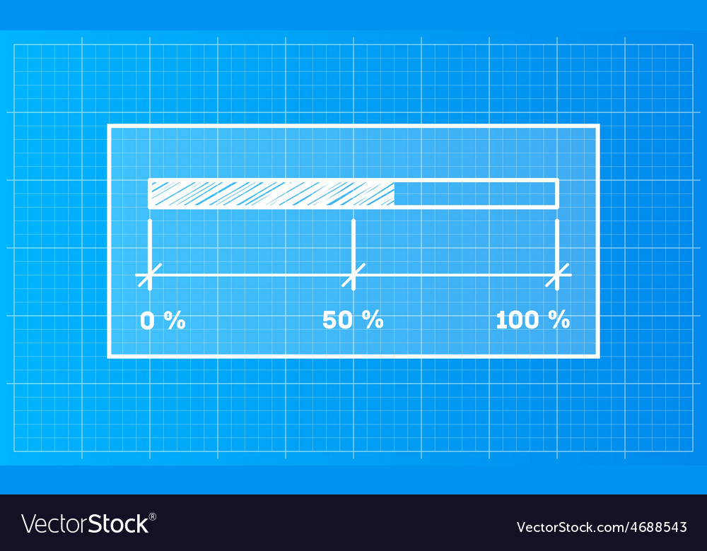 Digiral download bar on a blueprint background vector | Price: 1 Credit (USD $1)