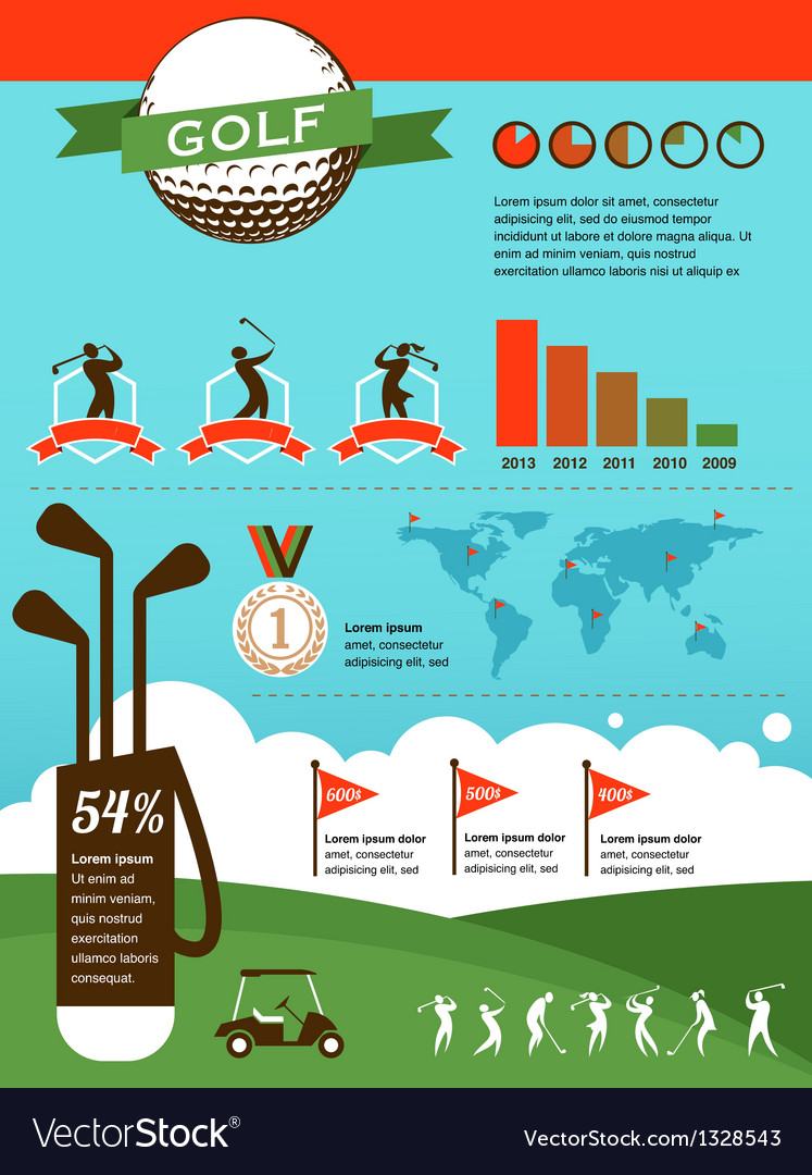 Golf infographics vector | Price: 1 Credit (USD $1)