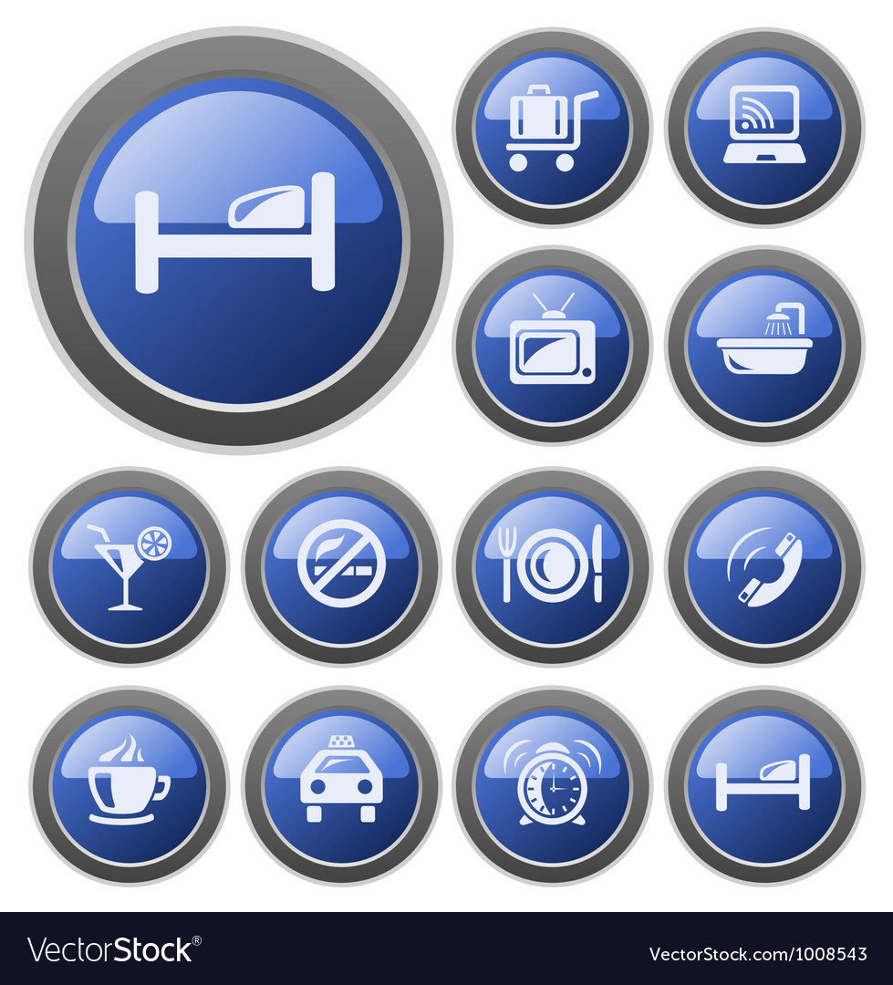Hotel buttons vector   Price: 1 Credit (USD $1)