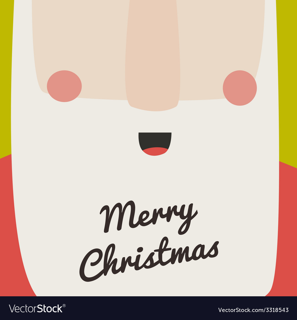 Santa christmas card vector | Price: 1 Credit (USD $1)