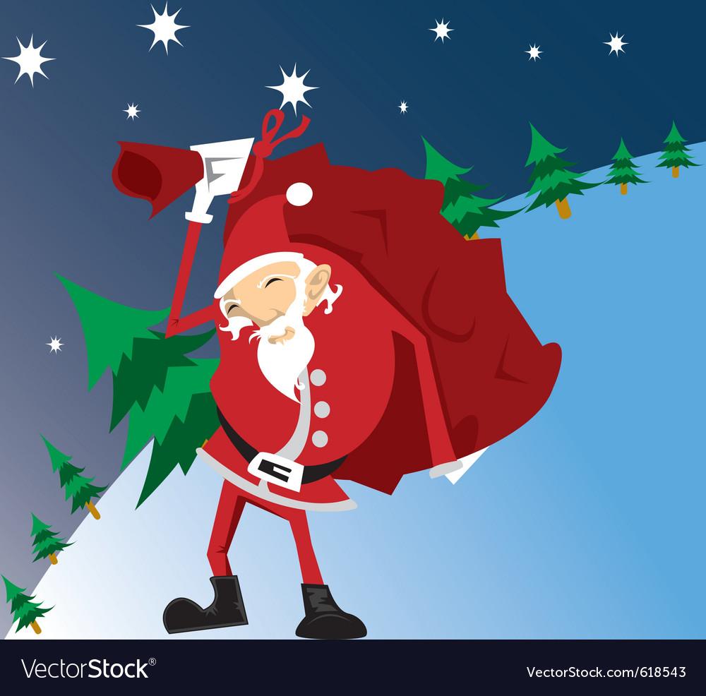 Santa-work vector | Price: 1 Credit (USD $1)