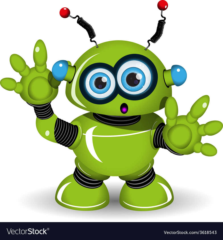 Surprised robot vector | Price: 3 Credit (USD $3)