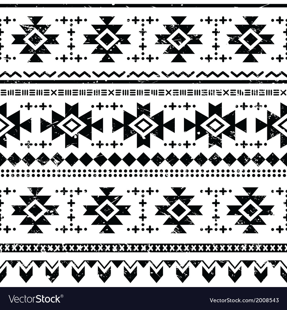 Tribal aztec retro seamless pattern vector | Price: 1 Credit (USD $1)