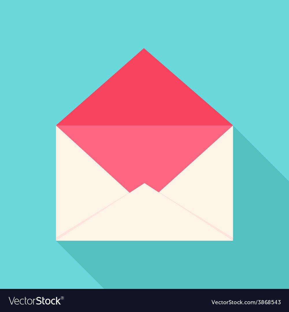 White and pink open envelope vector | Price: 1 Credit (USD $1)