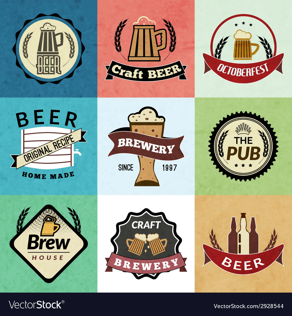 Beer retro labels vector | Price: 1 Credit (USD $1)