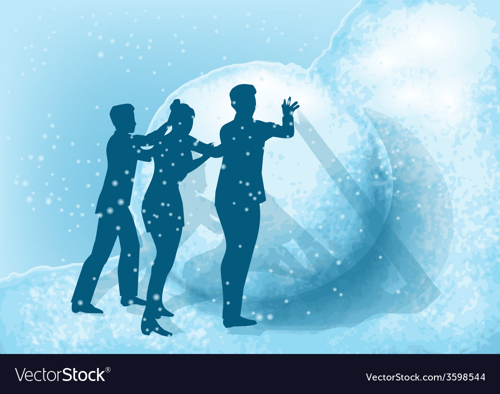 Business people and snow vector | Price: 1 Credit (USD $1)