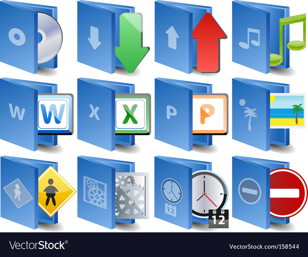 Computer icons document icon set vector | Price: 1 Credit (USD $1)