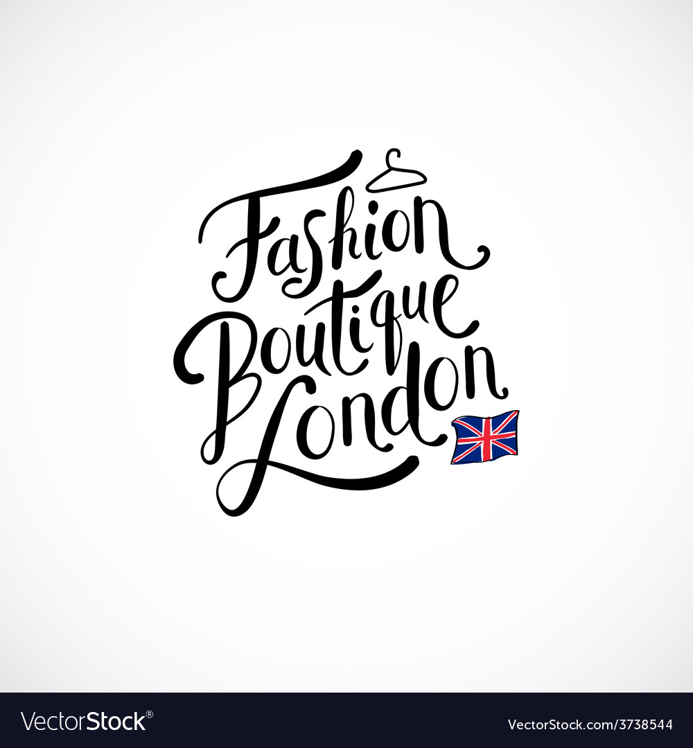 Fashion boutique london concept on white vector | Price: 1 Credit (USD $1)