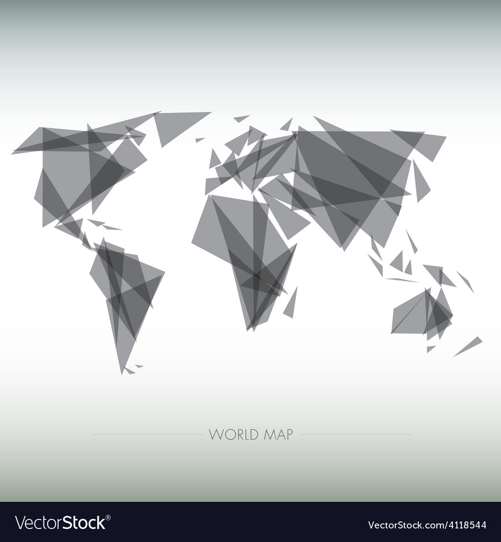 Geometric map of the world vector | Price: 1 Credit (USD $1)