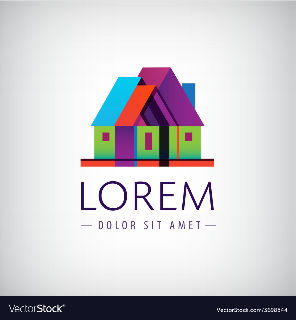 House geometric building icon logo vector | Price: 1 Credit (USD $1)