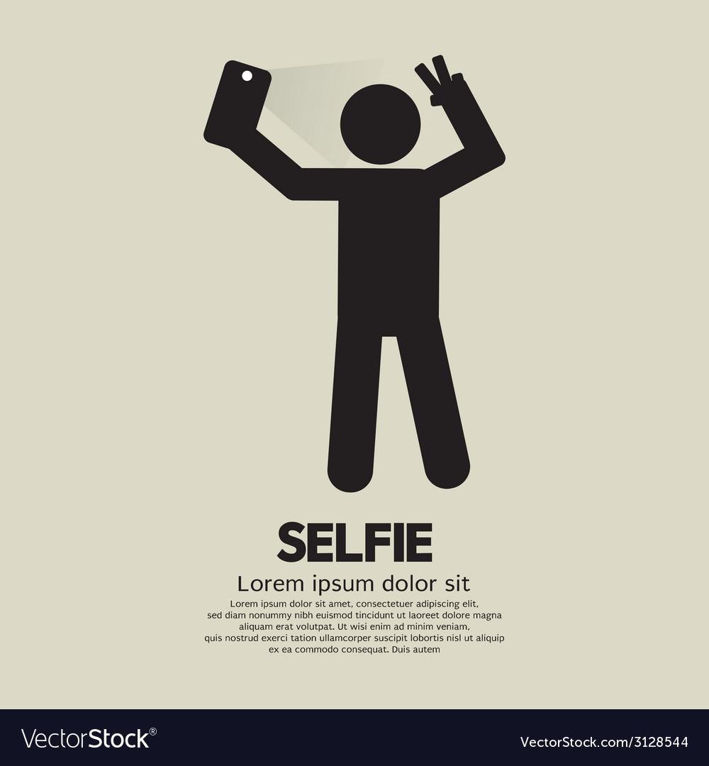 Selfie people sign vector | Price: 1 Credit (USD $1)