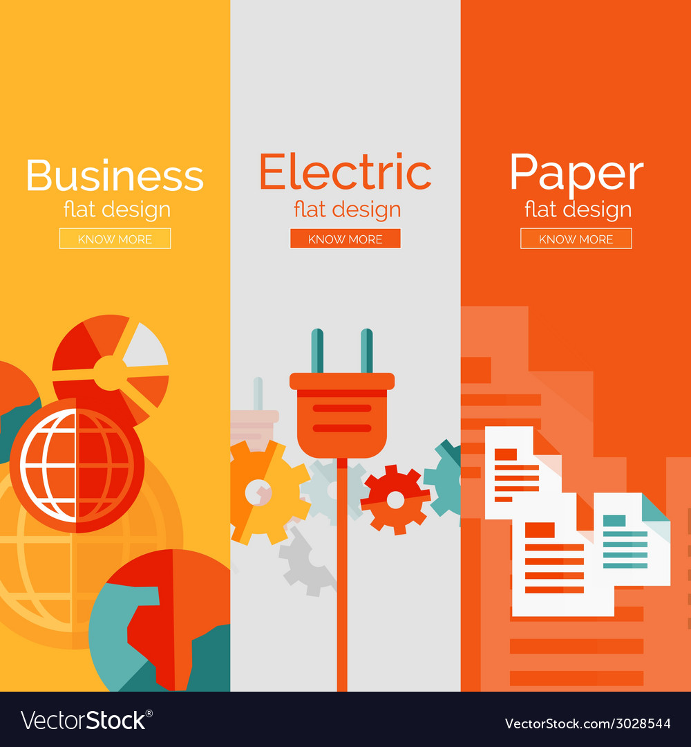 Set of flat design concepts - business electric vector | Price: 1 Credit (USD $1)