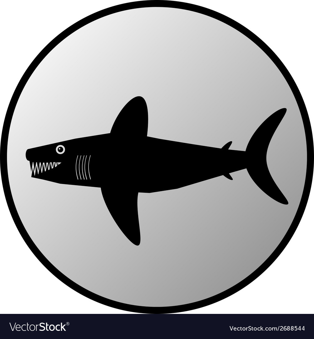 Shark button vector | Price: 1 Credit (USD $1)