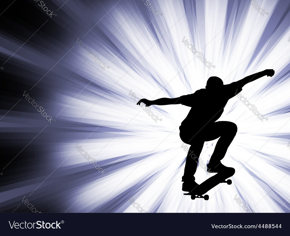 Skateboarder - abstract background- vector | Price: 1 Credit (USD $1)