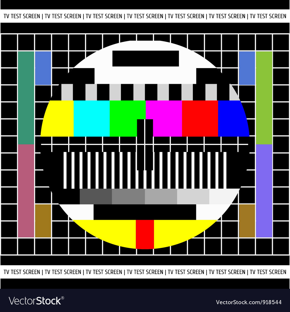 Test tv screen vector | Price: 1 Credit (USD $1)