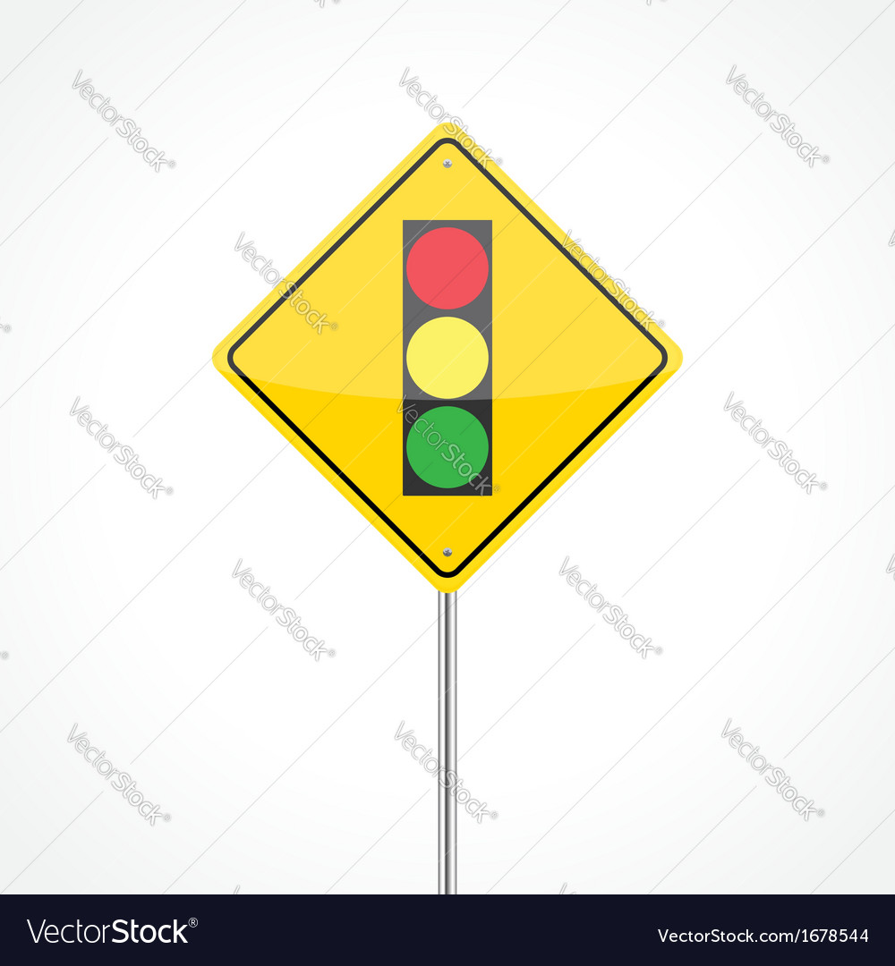 Traffic lights ahead vector | Price: 1 Credit (USD $1)