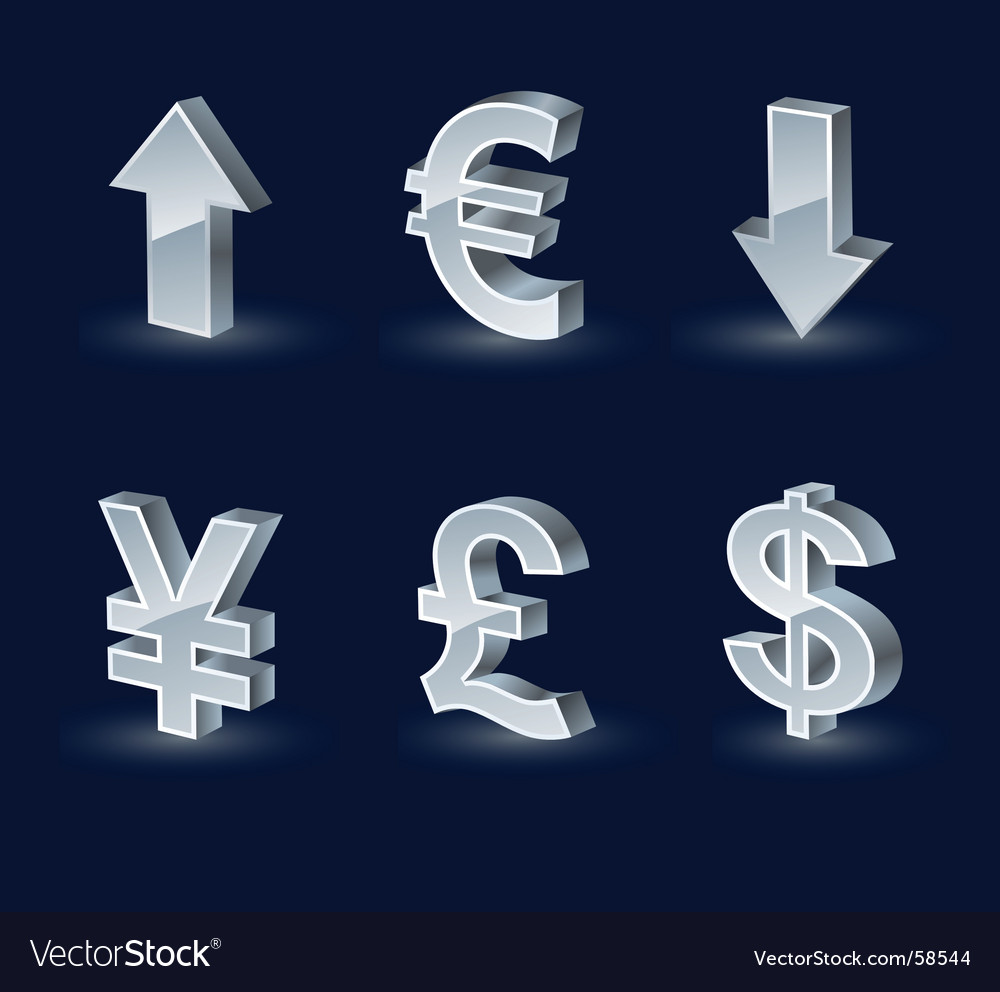 Vista monetary arrows vector | Price: 1 Credit (USD $1)