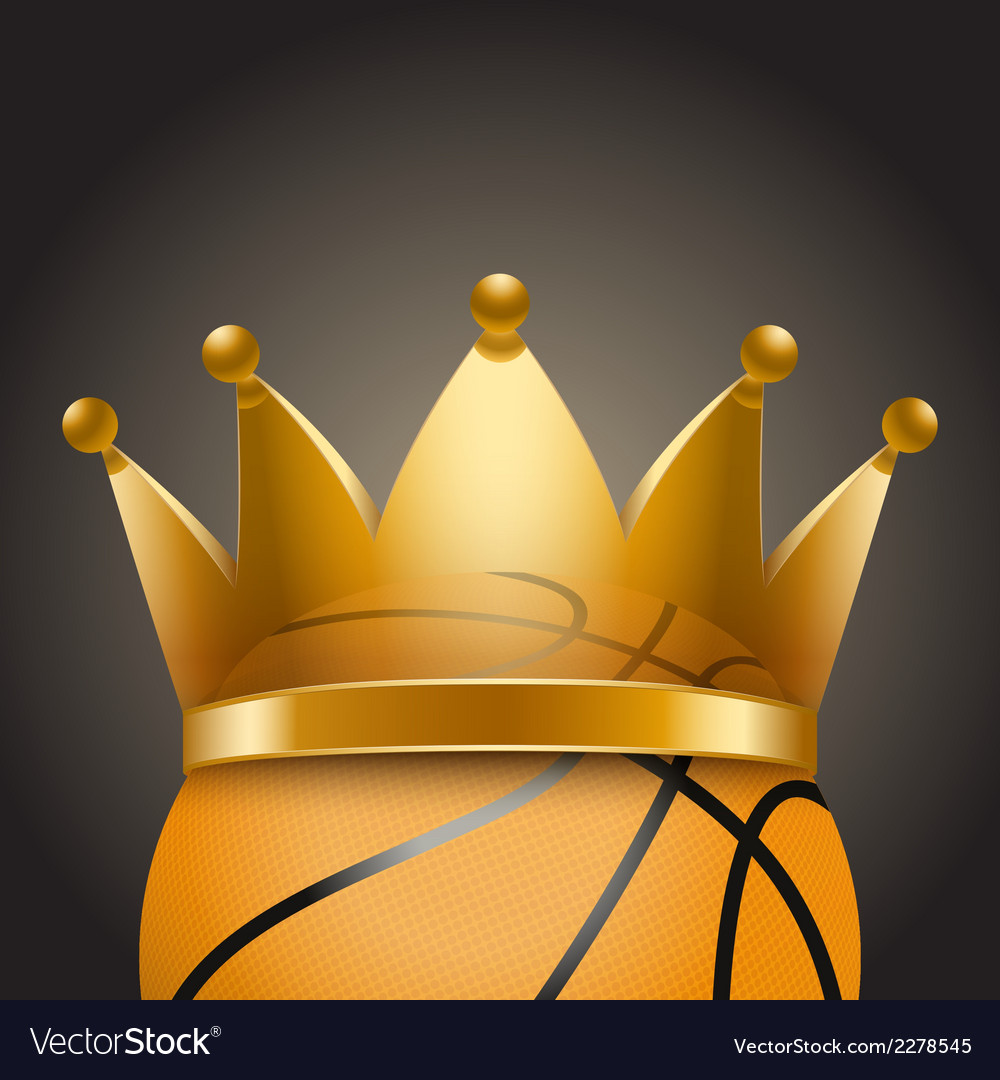 Background of basketball ball with royal crown vector | Price: 1 Credit (USD $1)