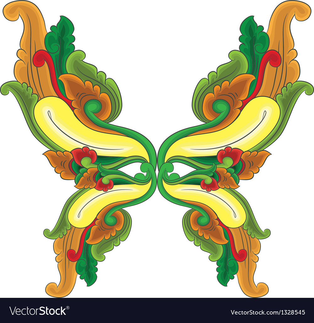 Butterfly ornament vector | Price: 1 Credit (USD $1)