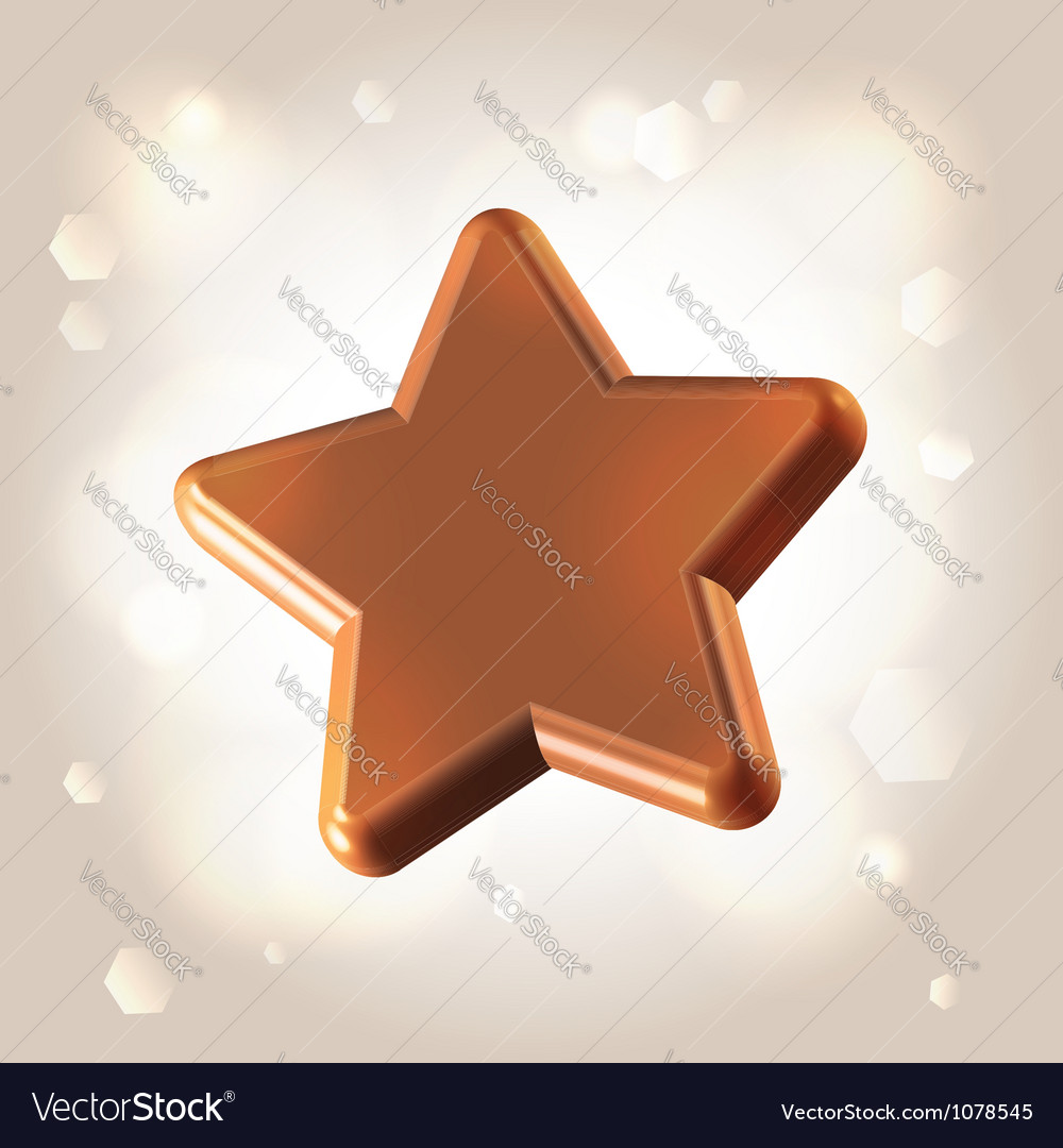 Chocolate star prize vector | Price:  Credit (USD $)